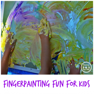 Kids Finger Painting Fun