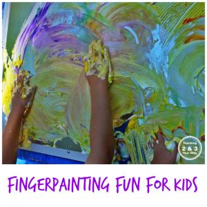 Kids Finger Painting Fun