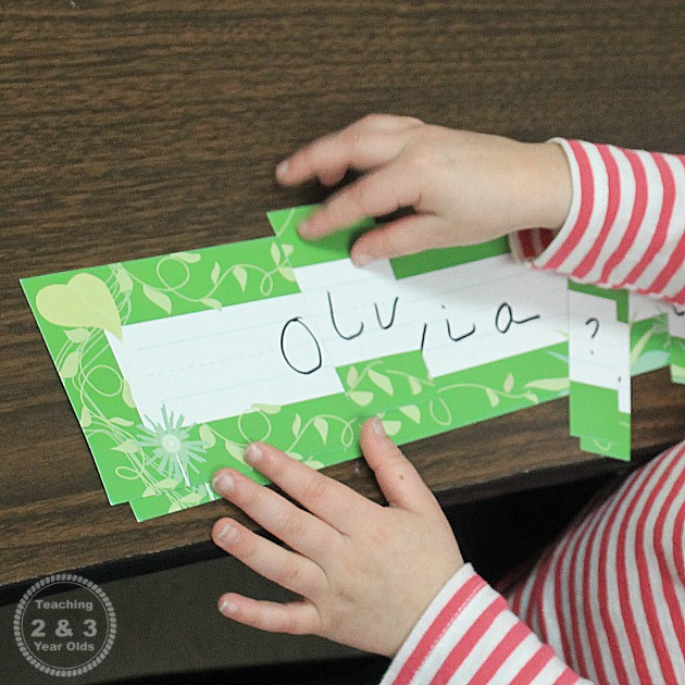 Preschool Name Recognition Ideas
