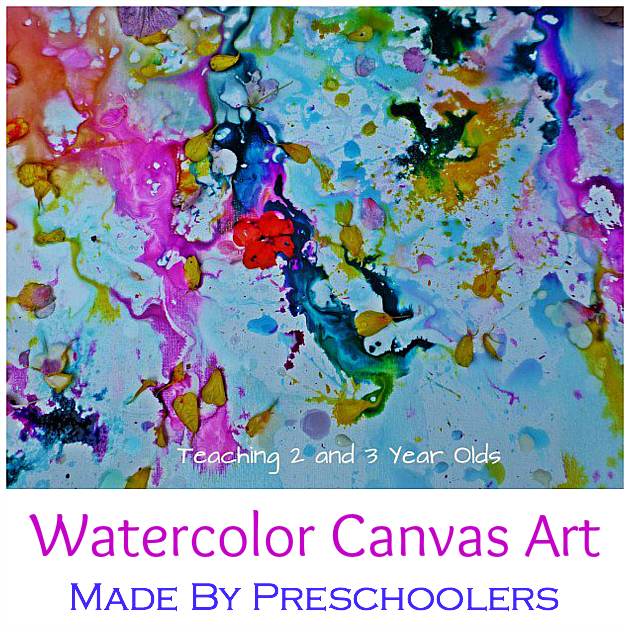 Kids canvas painting teaching 2 and 3 year olds for Watercolor painting and projects