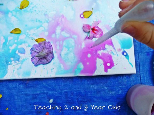 Preschool Art on Canvas