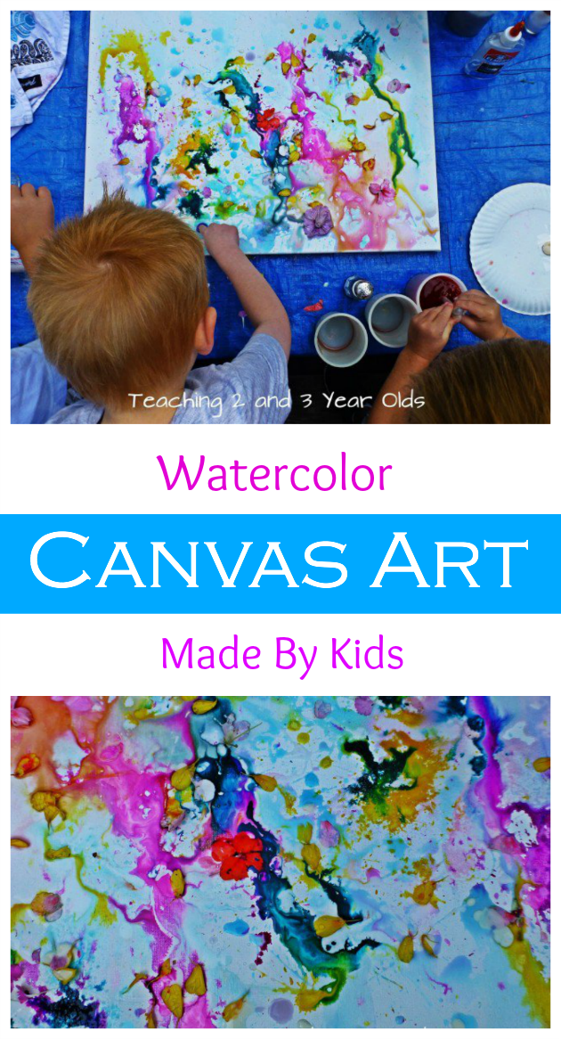 Preschool Art on Canvas long