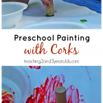 Preschool Art with Corks