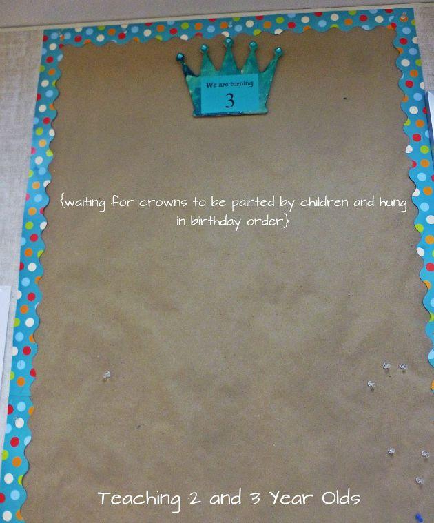 Bulletin Board Ideas 2 Year Olds: Birthday Bulletin Board- Teaching 2 And 3 Year Olds