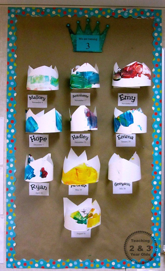 Classroom Ideas For 1 Year Olds ~ Birthday bulletin board teaching and year olds