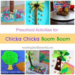 Preschool Chicka Chicka Boom Boom Activity