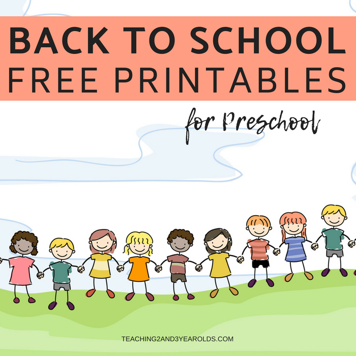 Free Back To School Printables For Preschoolers