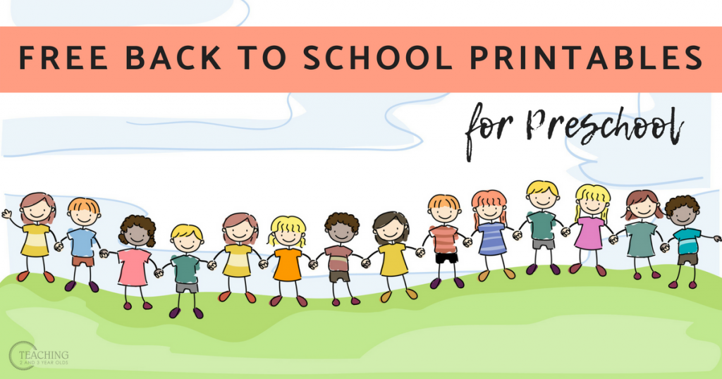 Free Back to School Printables for Toddlers and Preschoolers