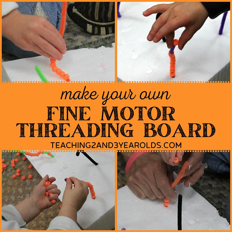 Fine Motor Threading Activity
