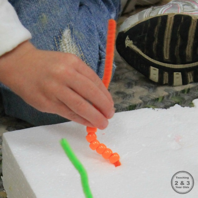 Fine Motor Threading Activity