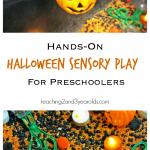 Halloween Sensory Play for Preschoolers