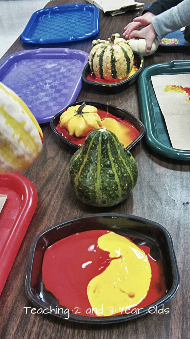 Fall Painting with Gourds