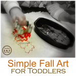 simple fall art for toddlers