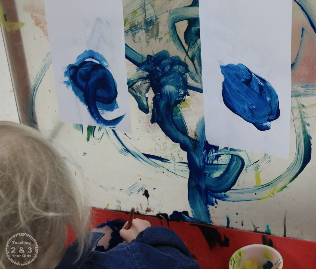 Preschool Art at the Easel