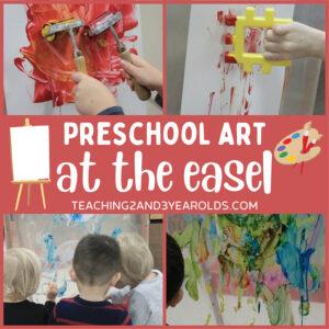 Preschool Easel Painting Activities