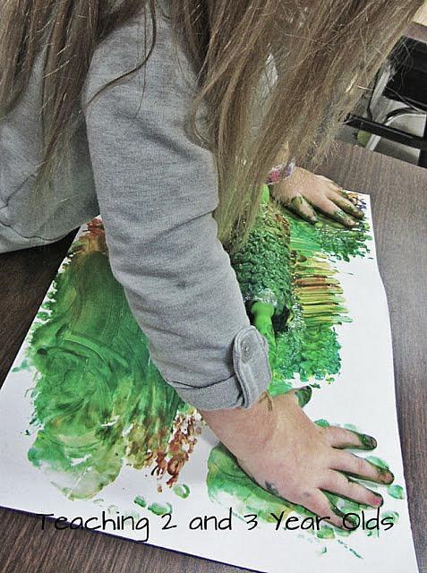 preschool rolling pin painting 4