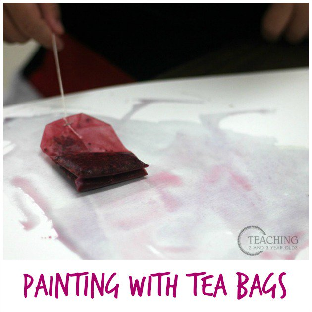Preschool Painting with Tea Bags