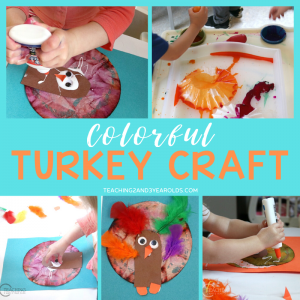 colorful turkey craft for kids