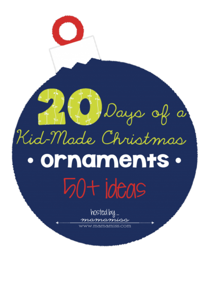 50 ornaments made by kids