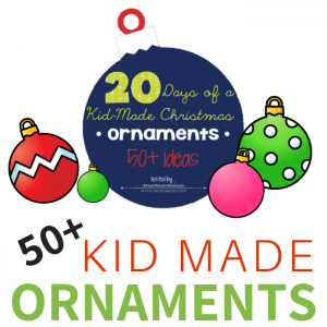 Looking for kid made ornaments? This amazing collection has over 50 fun ideas. Plus, I've included a free printable activity for you to do today!