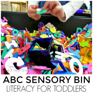 TODDLER LITERACY SENSORY TABLE