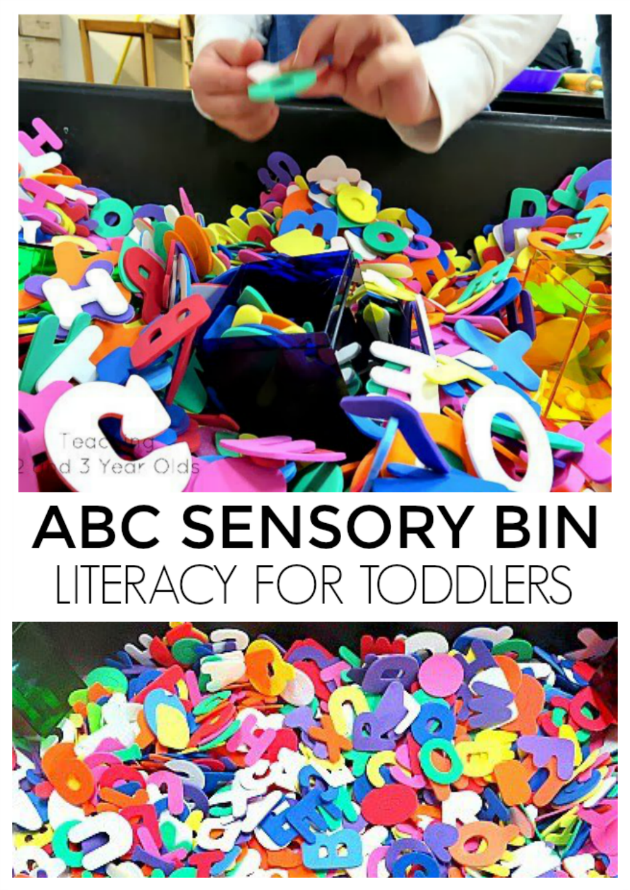 Alphabet Sensory Bin - Literacy for Toddlers
