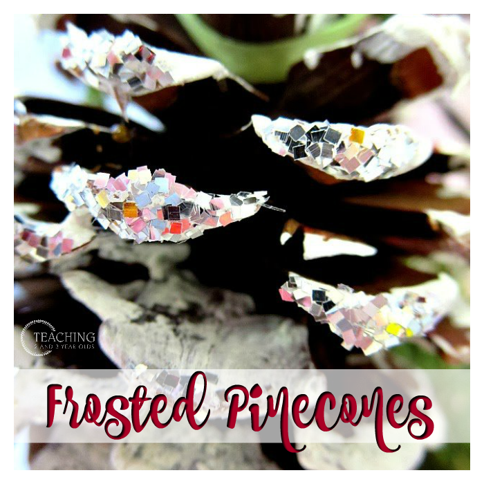 Preschool Winter Pinecone Craft
