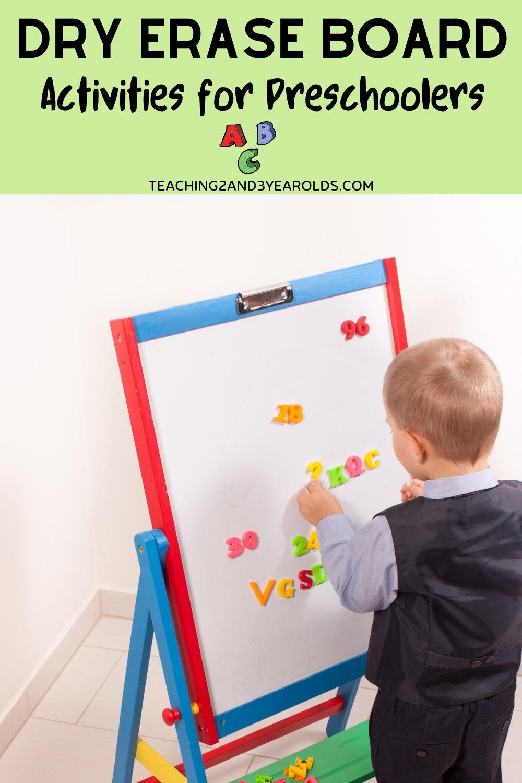 Educational Dry Erase Board Activities for Preschoolers