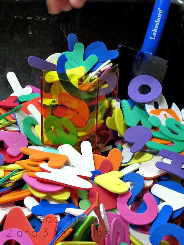Toddler Abc Sensory Table