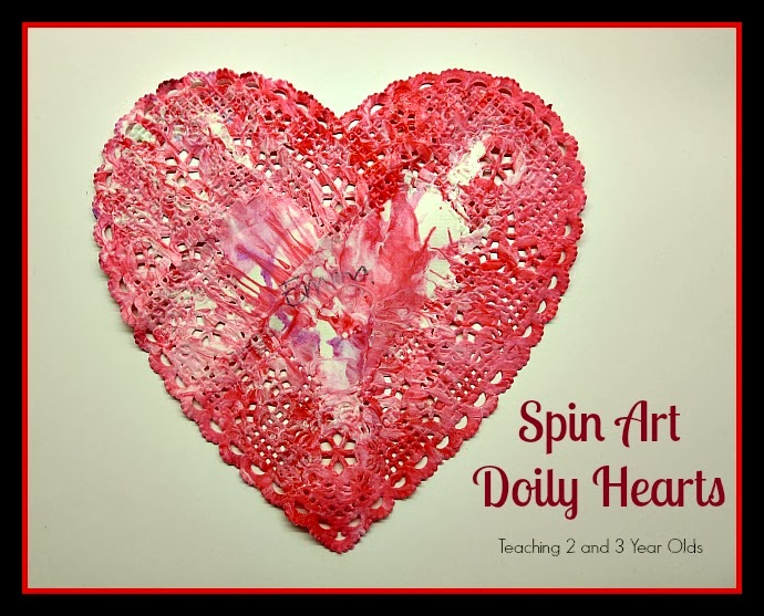Teaching 2 and 3 Year Olds: Spin Art Doilies for Toddlers and Preschoolers