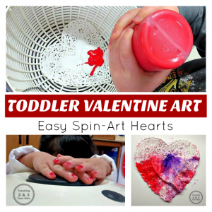 Easy Valentine's Art for Toddlers
