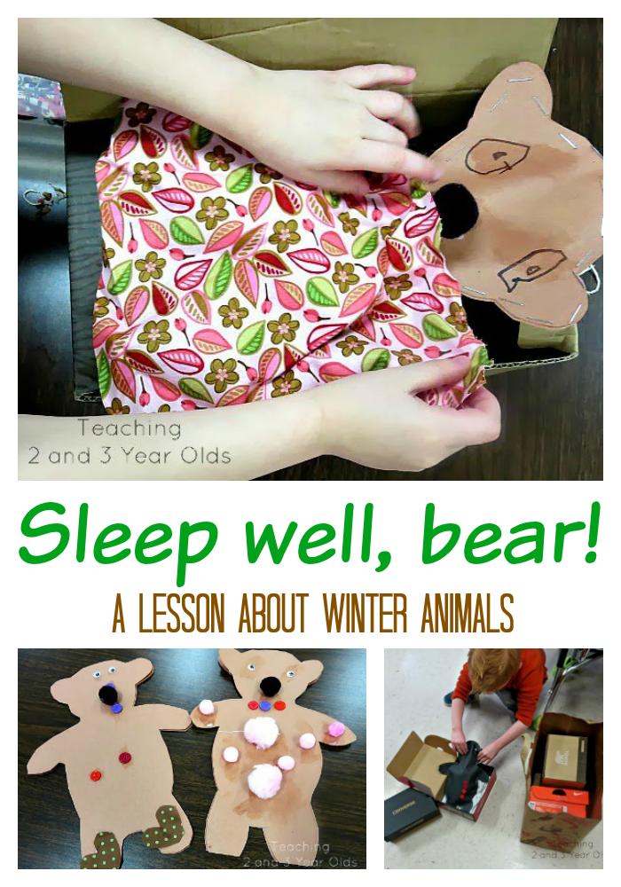 Preschool Winter Theme: Sleep Well, Bears