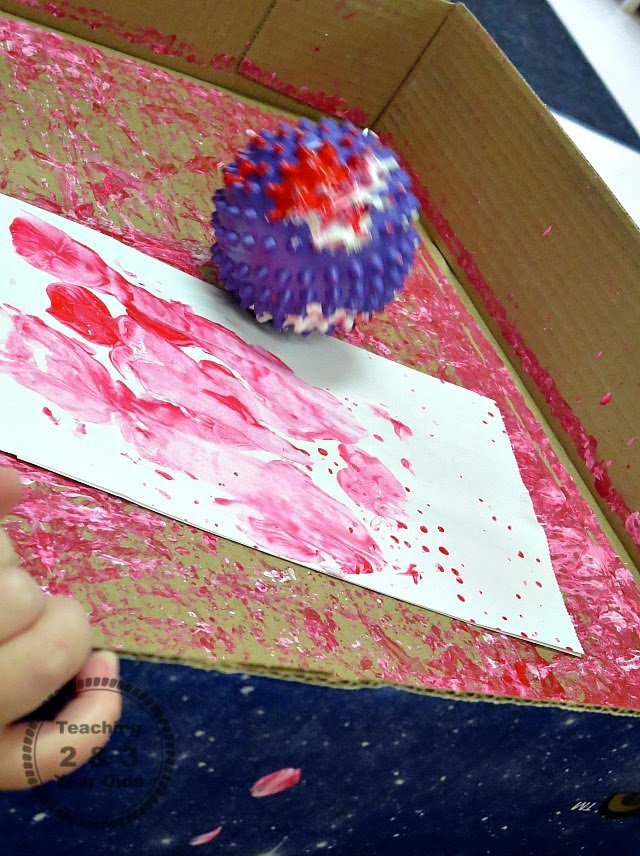 Painting for Toddlers with Balls