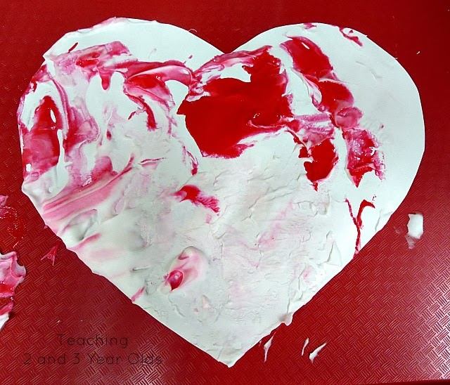 Teaching 2 and 3 Year Olds: Marbled Valentines Hearts for Young Children