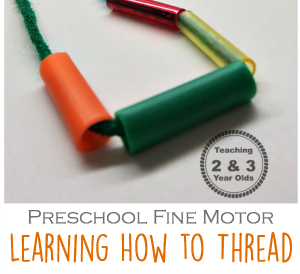Simple Threading Activity to Strengthen Fine Motor Skills