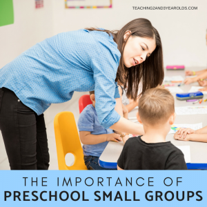 Preschool small groups is an important time for teachers to get to know their students better, while also building important skills. We keep this time short and simple, with fun, hands-on activities.