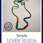fine motor threading for kids