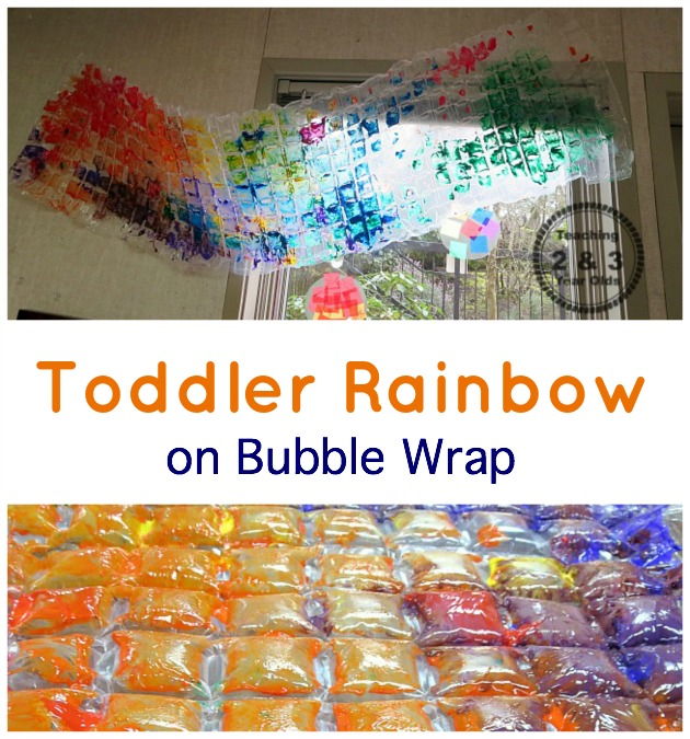 rainbow process art with toddlers