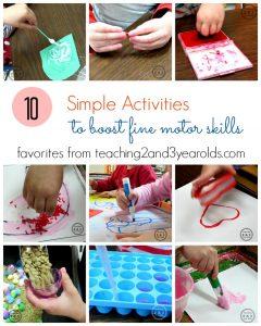 10 Fine Motor Activities for Preschoolers