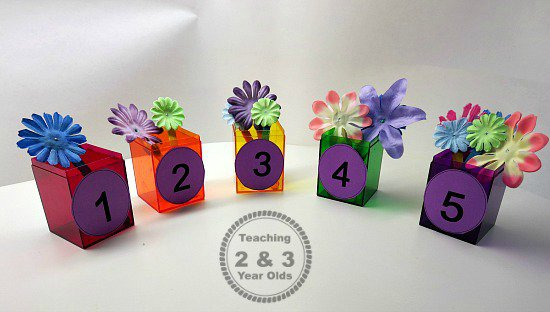 Count The Flowers Spring Math Activity For Preschoolers