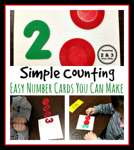 preschool math counting cards