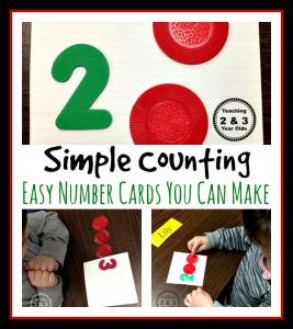 Preschool Math DIY Counting Cards