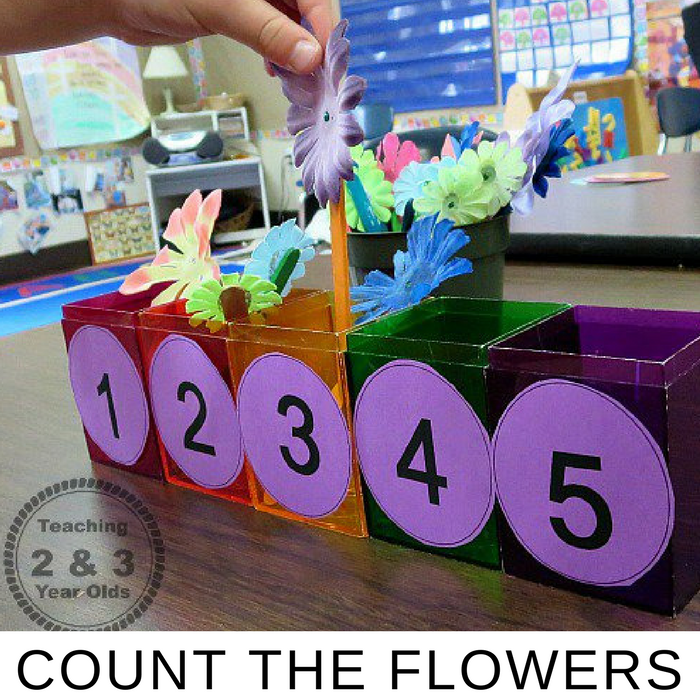 Featured 5 Spring Projects: Count The Flowers Spring Math Activity For Preschoolers