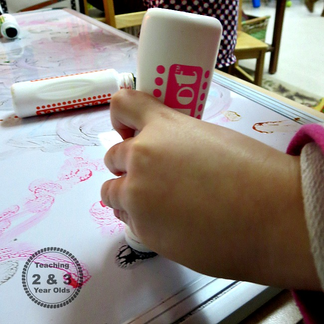 preschool white board activity