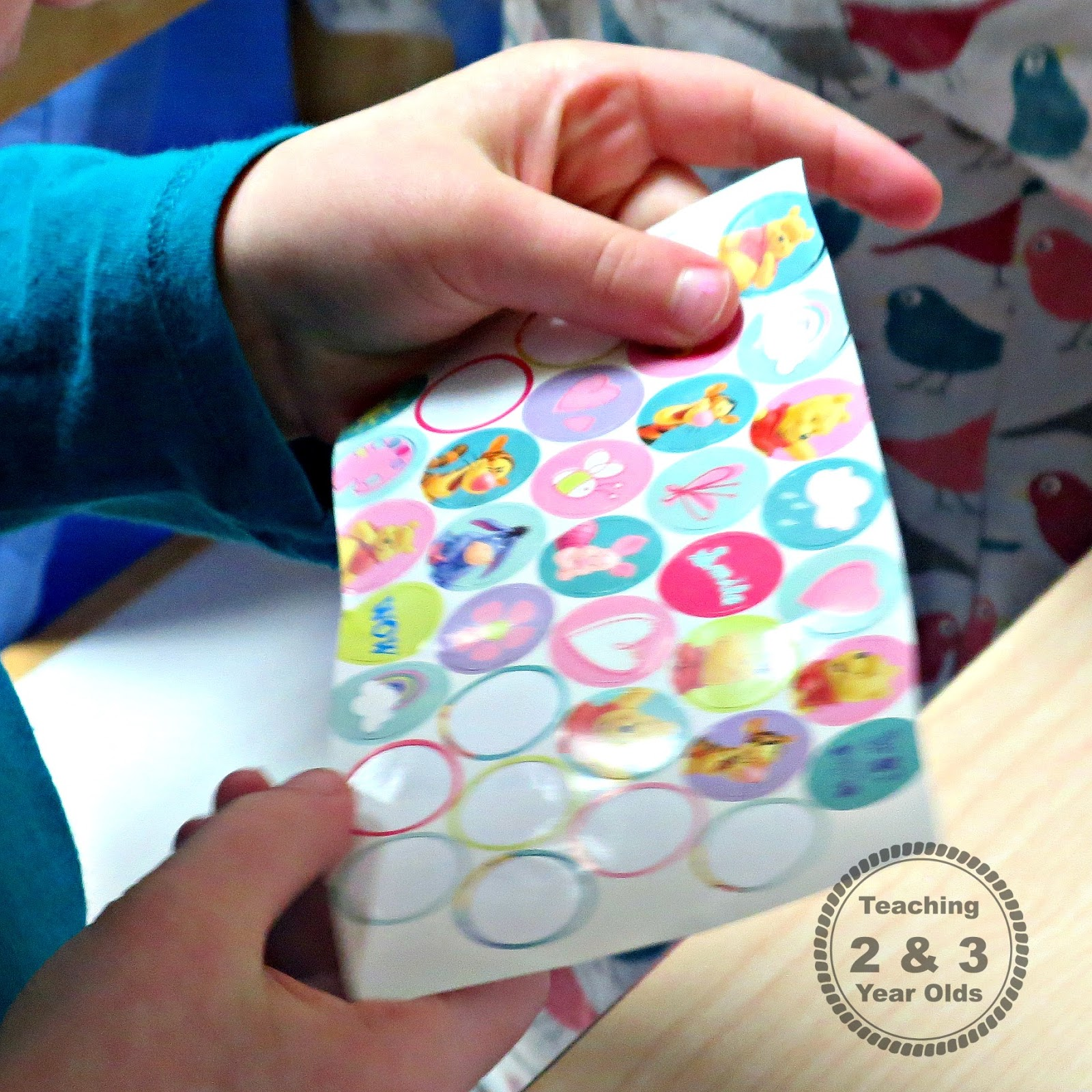 using stickers during transitions