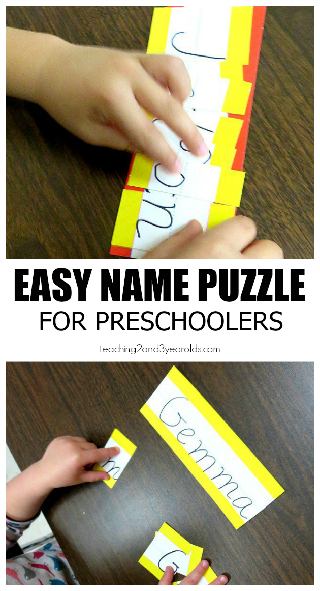 easy name puzzle for preschoolers