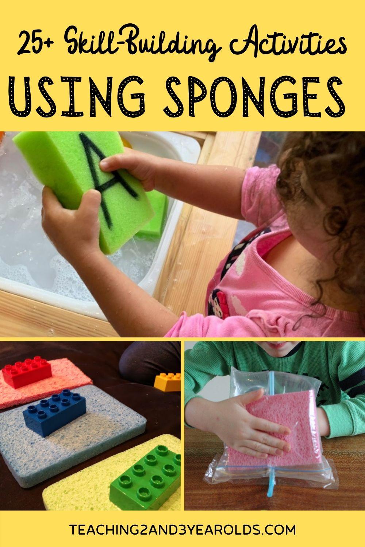 25+ Toddler and Preschool Sponge Activities
