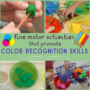 Color Recognition Activities that Also Build Fine Motor Skills