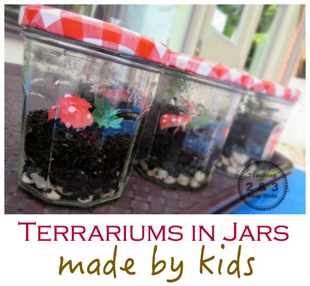 How to Make a Terrarium During Your Preschool Gardening Theme