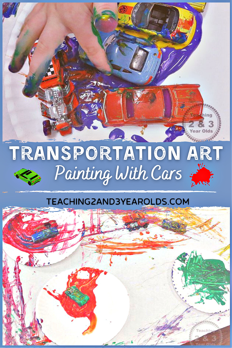 Transportation Art for Toddlers and Preschoolers